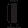 Aktív szén szűrőbetét kókuszhéjjal 10'' Silver