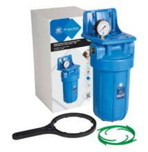 """Központi vízszűrő - 10""""-os Big Blue szűrőház nyomásmérővel, konzollal"""
