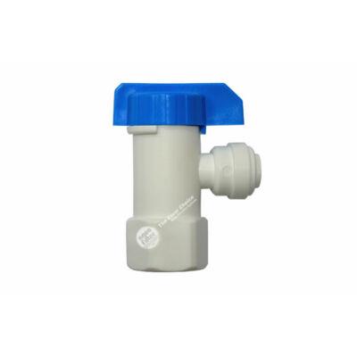 """Golyóscsap - műanyag, 1/4"""" x 1/4"""" tartályokhoz"""