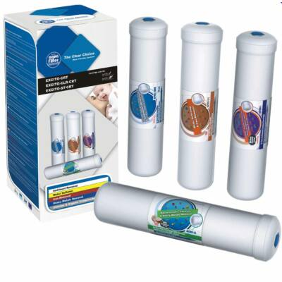 Szűrőbetét készlet - 4 részes, vízlágyítóval és vastalanítóval