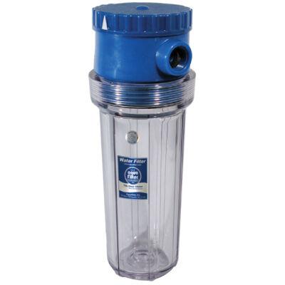 """Szűrőház - hideg vízre, 10""""-os, max.: 6 bar, BY-PASS szeleppel"""