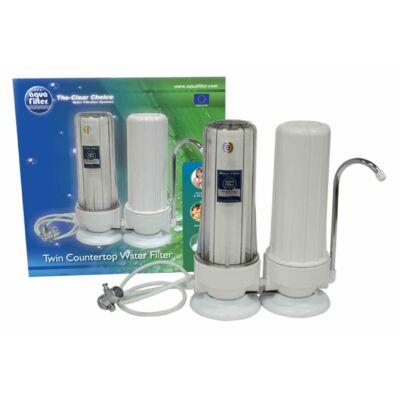 Asztali víztisztító berendezés, dupla szűrőházzal (FHCTF2)