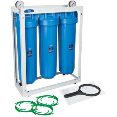 """Központi vízszűrő - 20""""-os Big Blue szűrőházakkal, nyomásmérőkkel"""